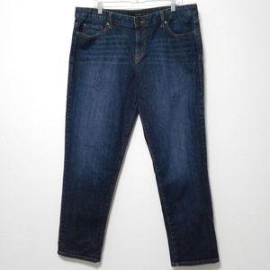 Calvin Klein Boyfriend Jeans Size 16 Medium Dark